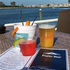 the patio bar at the wharfside restaurant point pleasant beach
