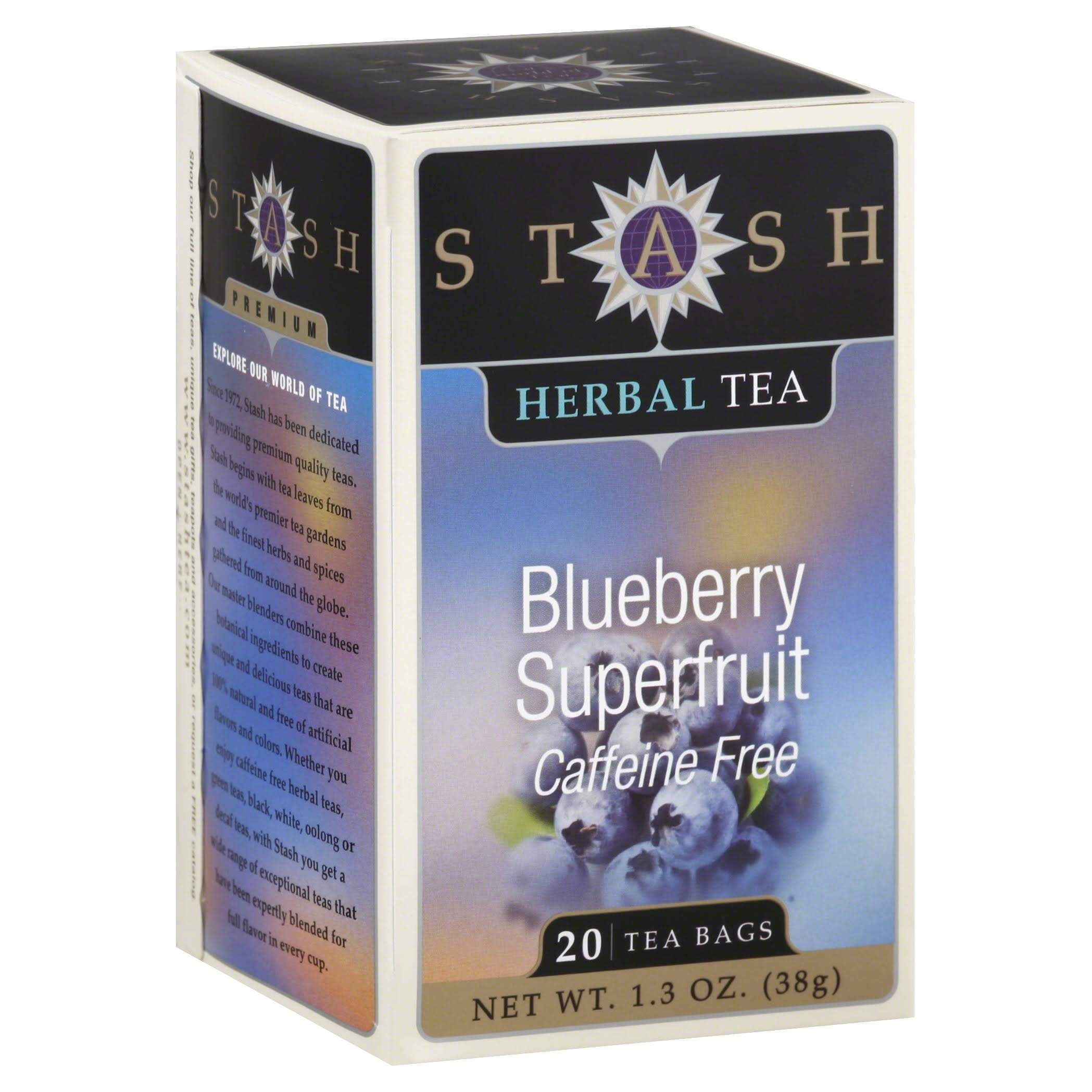 Stash Herbal Blueberry Superfruit Tea Bags - 20ct, 38g