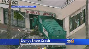 Trash Truck Crashes Into Winnetka Doughnut Shop - YouTube Images Truck Crashes Into Jacksonville Beach Lawyers Office Wjaxtv Fire Truck Through Cable Barrier After Tire Blows Out Kforcom Dump Rock Beside Trscanada Highway In Langford Driver Inattention At Root Of 3 Deadly Transport Opp Injured Box Kfc Pinellas Park Falls Garage Tree Line On Rice Street News Deldot Plow Newark 6abccom Massive Crash Youtube Chicken Spilling Foul Onto Alabama Highway Telegraph Road Business Nation And World Pickup House Mesa