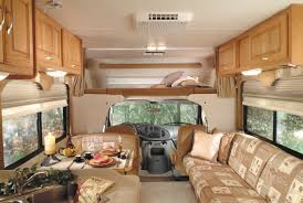 Interior Picture Of The Front A Luxury Class C Motorhome
