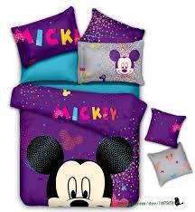 purple cotton comforter sets children duvet cover bedskirt and