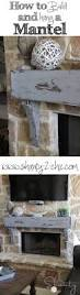 how to build and hang a mantel on a stone fireplace stone