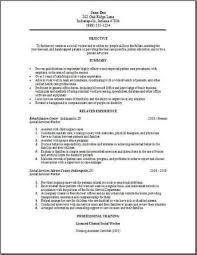 Resume Sample For Social Worker