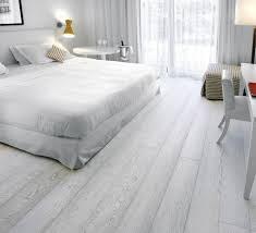 Bedroom Light Gray Wood Flooring