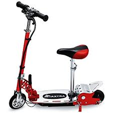 Maxtra E120 177lb Max Weight Capacity Electric Scooters Motorized Scooter Bike Red