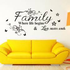 englisch wort familie wohnzimmer sofa wandtattoos home dekoration tapeten malerei pvc