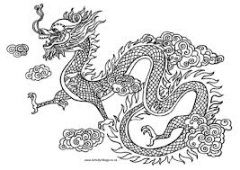 Colouring Pages Dragons Chinese Dragon Page Titans Pics To Color In
