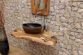 waschtischplatte wurzelholz teak massiv waschtisch