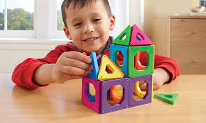 discovery kids magnetic tile set 24 piece groupon