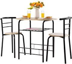 weiß holz esszimmer set garten esstisch mit 2 stühlen bar