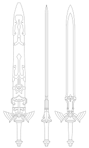 Master Sword Blueprint Twilight Princess By Fridator U2026 Sword Art