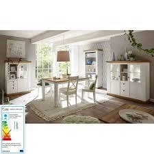 landhaus esszimmer tisch 61 in pinie weiß wotan eiche nb b h t ca 158 76 88 cm
