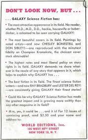 Arthur C Clarke Prelude To Space Galaxy Novel 3 Rear Cover