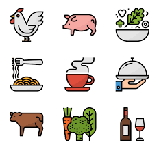 Food 36 Icons Bed And Breakfast