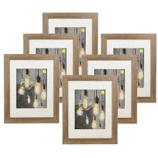 100 11 Wood Loft Kiera Grace Picture Frame By 14Inch Matted For 8 By 10Inch Driftwood Grey Set Of 6
