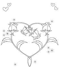 Heart Shape Valentines Coloring Pages