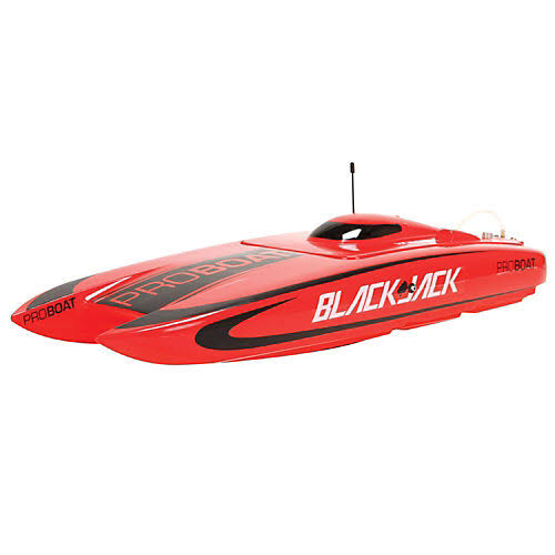 Blackjack Catamaran Brushless Remote Control Boat - Red