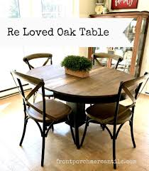 Re-Loved Oak Kitchen Table - Front Porch Mercantile Paint Projects Rustoleum Milk Vs Chalked Sarah Joy Blog This Beautiful Coffee Table Was Painted In Millstone Milk Paint 101 Surface Prep Miss Mustard Seed Pating With Old Barn Vintage Mirror White Picket Diy Blogger Archives Honey Bettshoney Betts Chalk Mud High Back Upholstered Ding Chairs Monday The Tasured Home Bright Green Entryway Makeover Salvage Gilbert 116 Year Part 2 Finish Review Of Rustoleum Beauty For Ashes Loving General Finishes Lamp Black Sadie At South End Mcm Surfboard Table Old Fashioned In Pitch Black