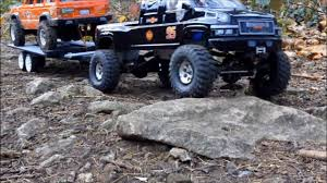 100 Rc 4x4 Trucks Scale Rc Truck Tow Recovery With Car Trailer YouTube