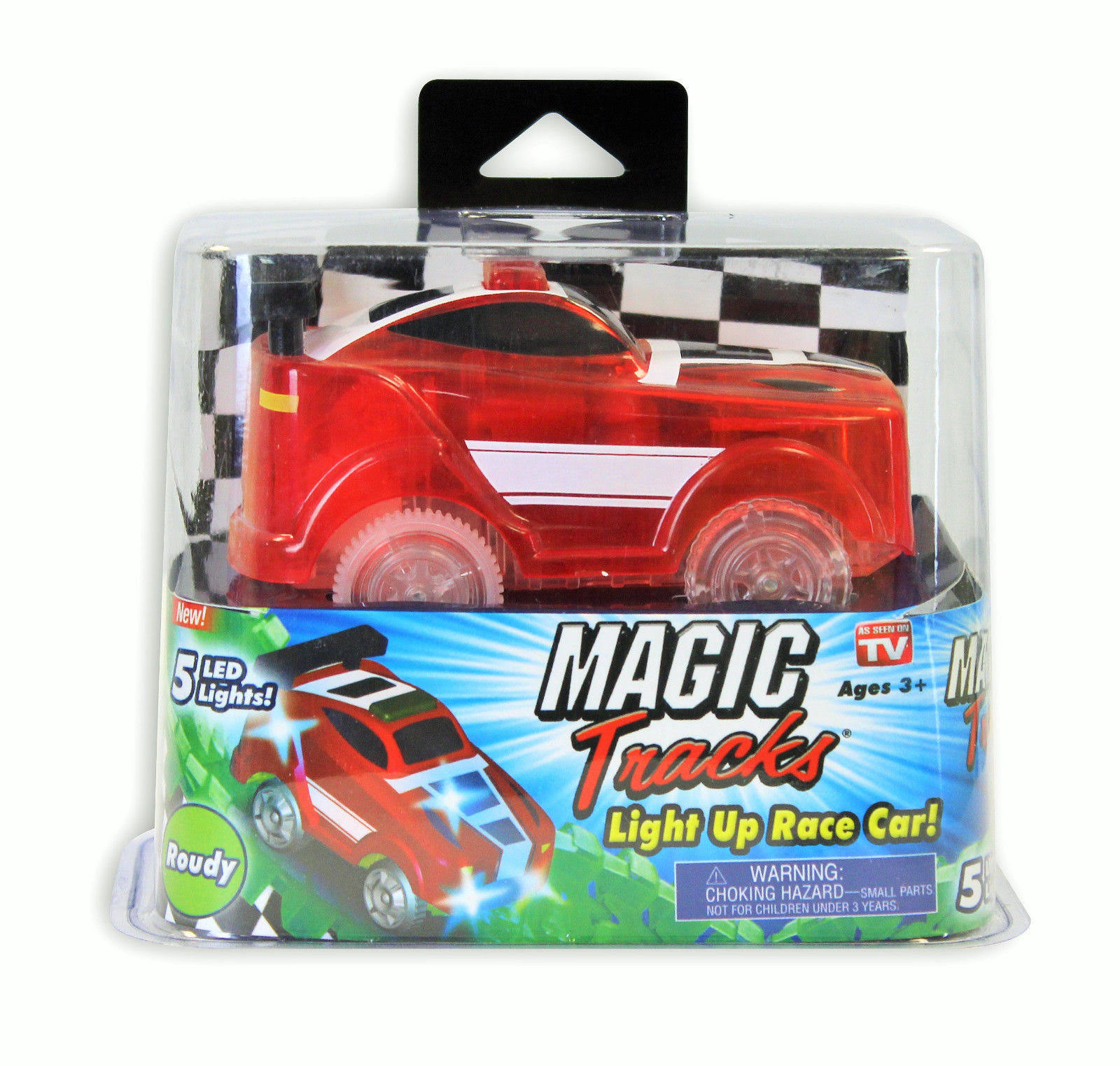 As Seen On TV Magic Tracks Light Up Race Car