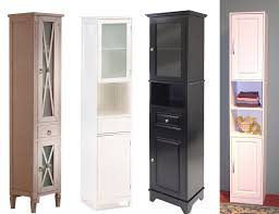 amazing of narrow bathroom storage cabinet with white cabinets