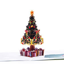 Paper Spiritz Christmas Tree Pop Up Card Holiday Thank You