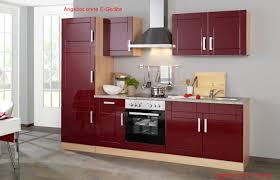 küchenzeile varel küchen leerblock breite 270 cm hochglanz bordeaux rot