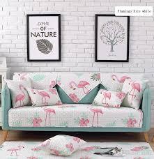 großhandel flamingo theme reisweiß baumwolle sofakissen vier jahreszeiten allgemeine stoff rutschfeste kissen reiner baumwolle einfache moderne