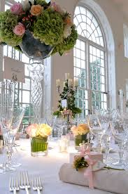 Pinspots to table centres in The Orangery Decoration