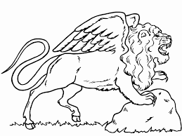Monster Lion Horse Coloring Pages For Kids