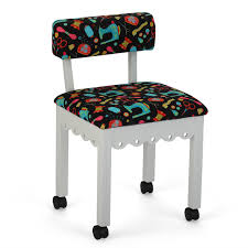 Arrow 7011B Chair In White And Riley Blake Black Upholstery