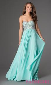 jeweled strapless lace up long prom dress