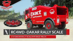 100 Rc 4wd Truck UNBOXING RC4WD DAKAR RALLY SCALE RTR RACE TRUCK 114 English
