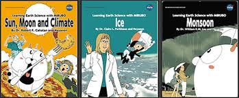 NASA Earth Science Manga Series Horizontal Image Of Three Book Covers