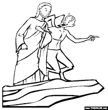 Jesus Was Tempted By Satan But Did Not Give In To Temptation Coloring Sheet Activity