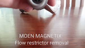 27 Aerators U0026 Flow Restrictors by How To Remove The Moen Magnetix Flow Restrictor Youtube