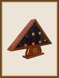 3 X 5 Flag Case With Pedestal And Coin Holder