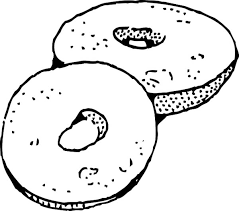 Junk Food Donuts Coloring Page PageFull Size Image