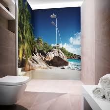 eck duschrückwand zwei platten acryl glas dusche bad wand isla bonita