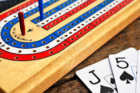 Download Cribbage Board And Playing Cards Stock Image
