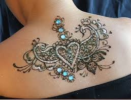 Unique Temporary Tattoo Design On Upper Back For Women