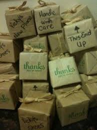 Cute Mini Moving Boxes With Candy As Favors For A Housewarming Party Sooooo Doing This