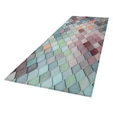 flurläufer rutschfest waschbar teppichläufer küchenläufer teppich läufer bodenmatte für küche schlafzimmer dekoration 60x180cm hellblau ja 3d