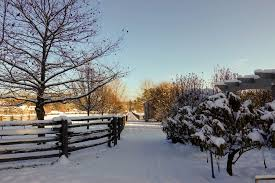 There Is Always A Bit Of Excitement With The Seasons First Snow This View Between Paddocks Old Corn Crib On Right Original To