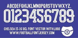 Football Fonts Real Madrid 2014 2015 Jersey Font