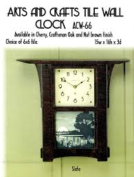 wall design ideas best arts and crafts wall clock uk mission