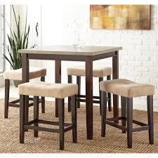 Sofa Tables At Walmart by Steve Silver Aberdeen 5 Piece Counter Height Dining Set Rich