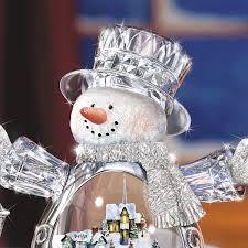 Thomas Kinkade Christmas Tree Wonderland Express by Amazon Com Thomas Kinkade Crystal Snowman Figurine Featuring