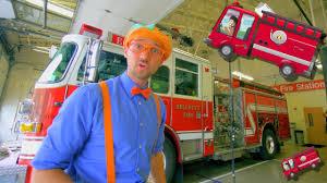 100 Fire Trucks Youtube Blippi Explores For Children Blippi Truck Song