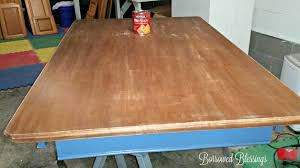 Restaining Kitchen Cabinets With Polyshades by Refinishing A Dining Room Table With Polyshades Borrowed